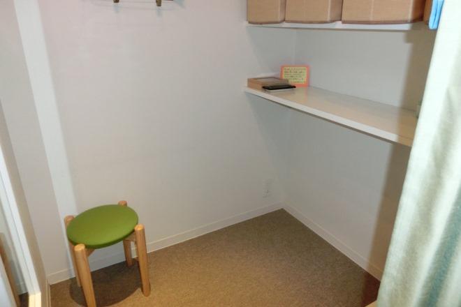 更衣室は2部屋あります。