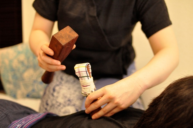 日本では珍しいトークセン施術