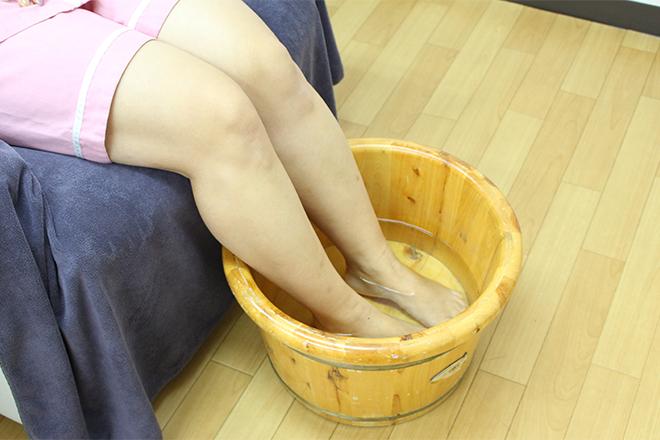 足湯からスタートし巡りやすい状態へ