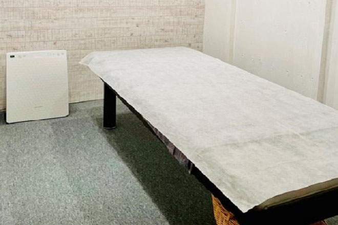 完全個室の施術ルーム