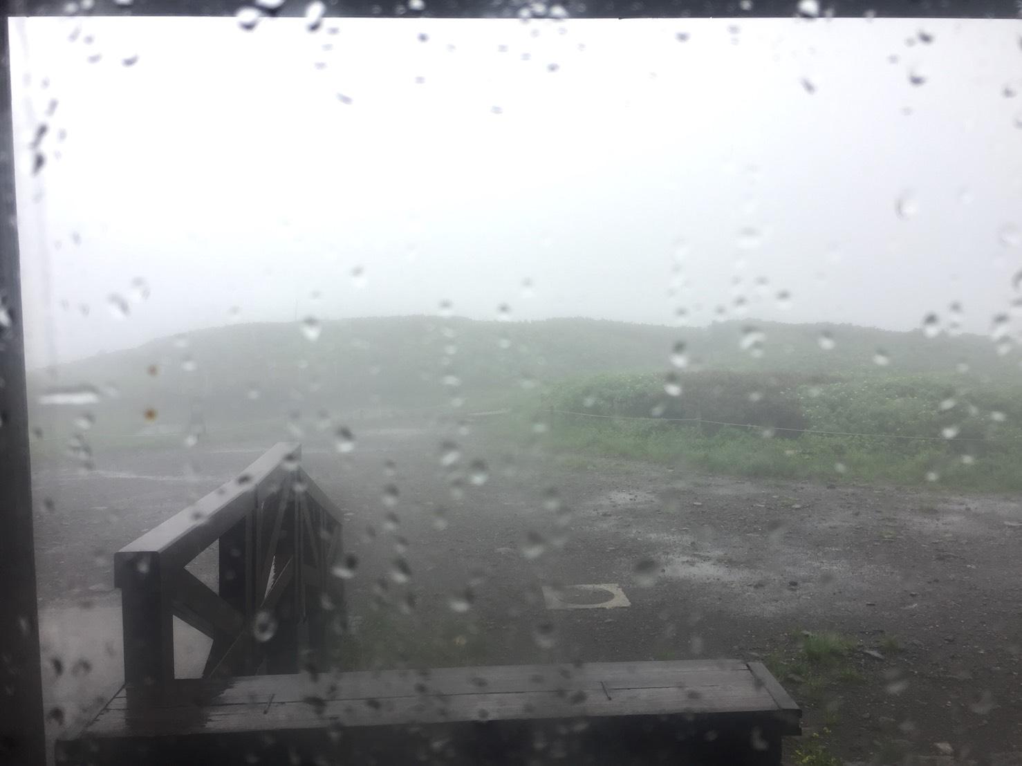 台風接近白山室堂