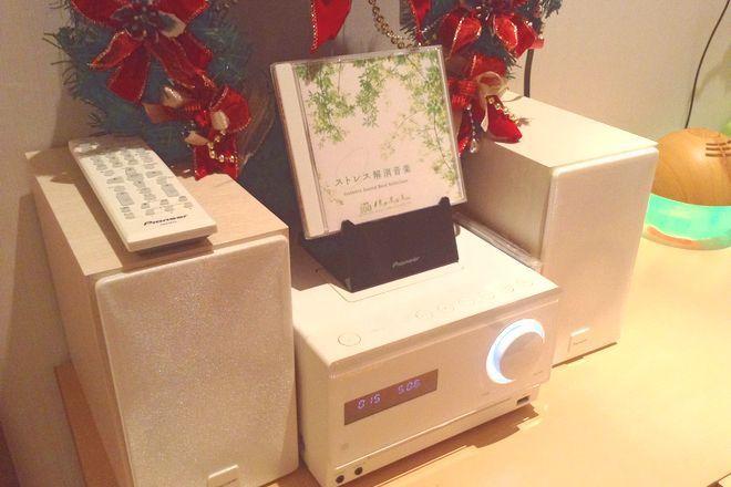 リラク ザ・プリンスパークタワー東京(Re.Ra.Ku) 店内では癒しソングが快適空間を演出。