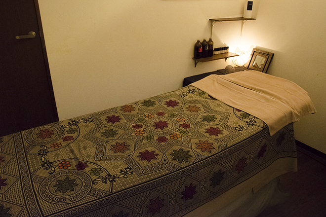 aura リゾート感漂うベッドでリラックスできます