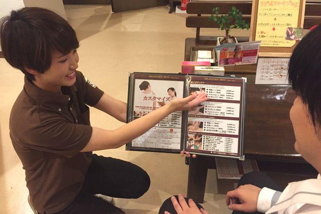 癒し処倉田屋 岡谷フォレストモール店 ケアの前にお体のコンディションを確認します