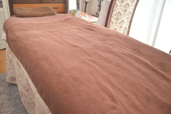 オーキッド 蘭(orchid) いつも綺麗に施術ベッドです