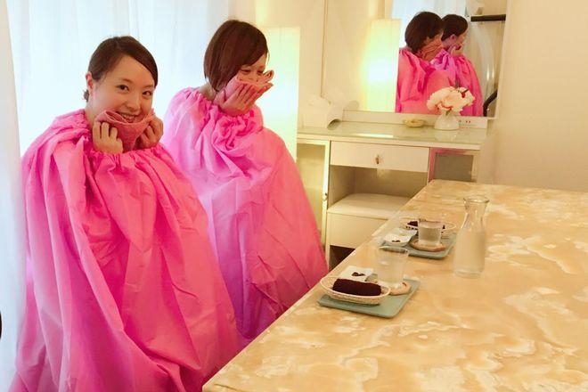 cuu kyoto ビワよもぎ蒸し施術です。