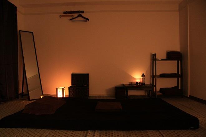 和りらくぜーしょん癒美 施術スペースはこちら。癒やしの空間を・・・