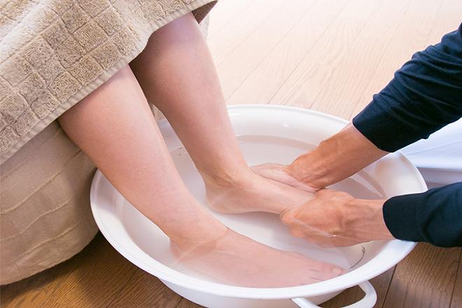こまざわ酵素 気持ちの良い足浴!