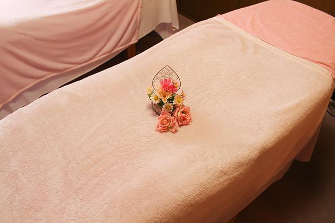 トゥインクル 清潔に保たれた施術ベッド