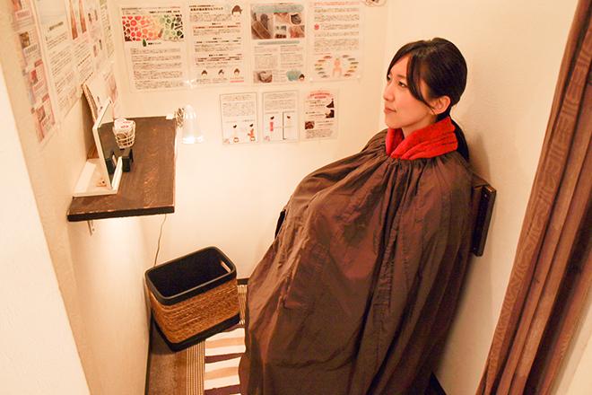 楽座や 渋谷店 よもぎ蒸しとゲルマニウム温浴のセットが人気♪
