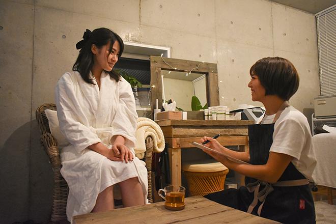 Private Salon IRODORI ヒアリングにてなりたい姿をお伺いします