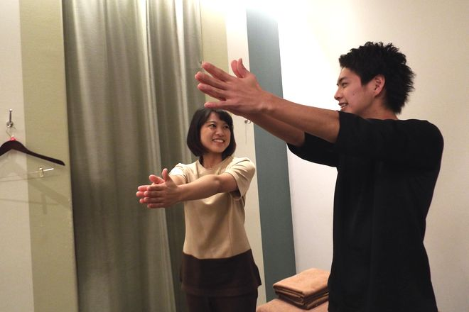 Re.Ra.Ku トレッサ横浜店 ボディケアをしながら筋肉運動に抵抗をかけること