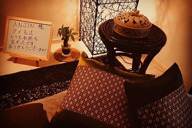 アンジン(タイ古式セラピーANJIN) 綺麗な施術台でリラックスしてください