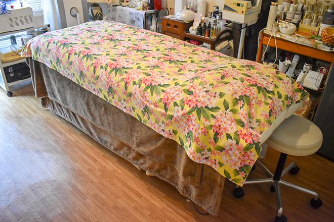 ヒートマットを使用したくつろぎのベッド