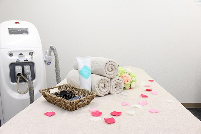 脱毛サロン ダイアナ シンプルで清潔感あふれる空間
