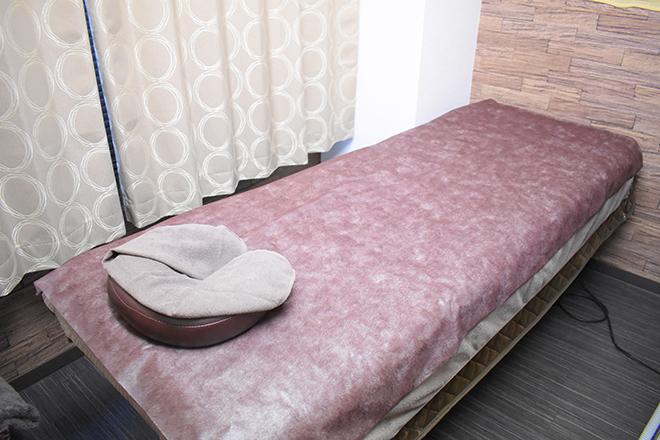 ベッドは1台ですので、ゆったりと施術
