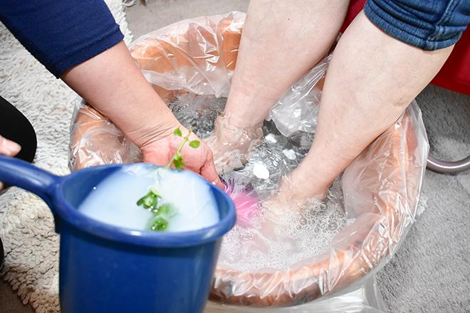 ビエイ(美榮) 清潔さにも気を使った足湯