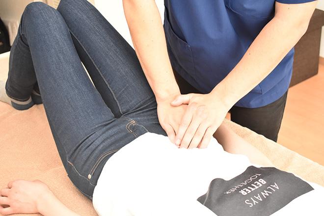 整体院 ききょう お腹の上から腰の筋肉を刺激
