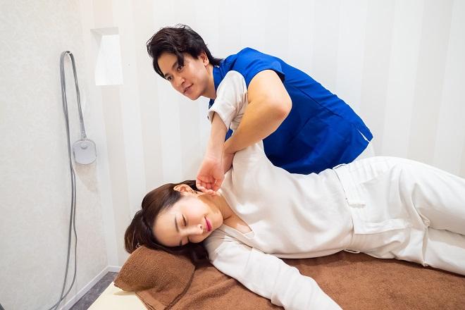 MJG整体院 横浜松本院 辛い箇所の筋肉を緩めて、調整しやすい状態へ