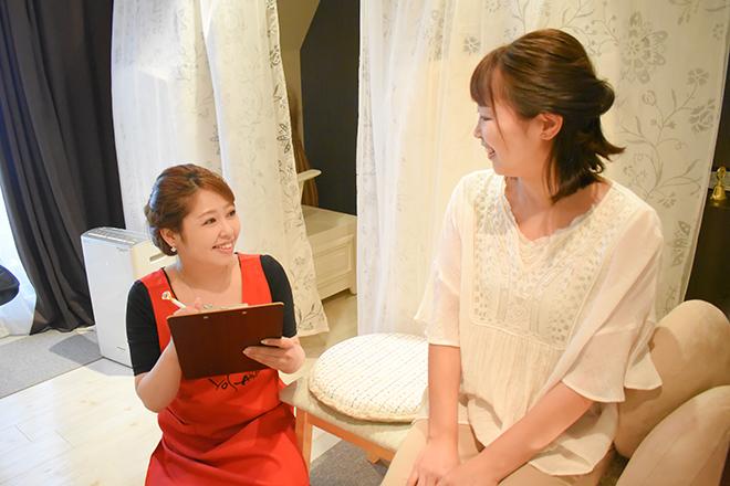 ココ ダイア(YOSA PARK coco♡dia) お客様がどうなりたいか、目標を把握します!