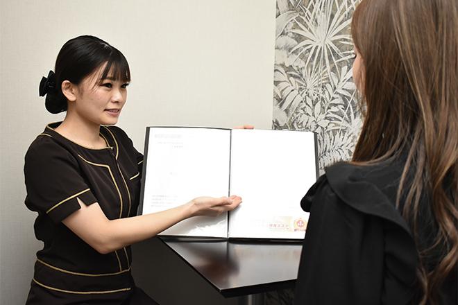 キレイサローネ 新宿店 ダイエット歴などもうかがい、お悩みの原因を追求