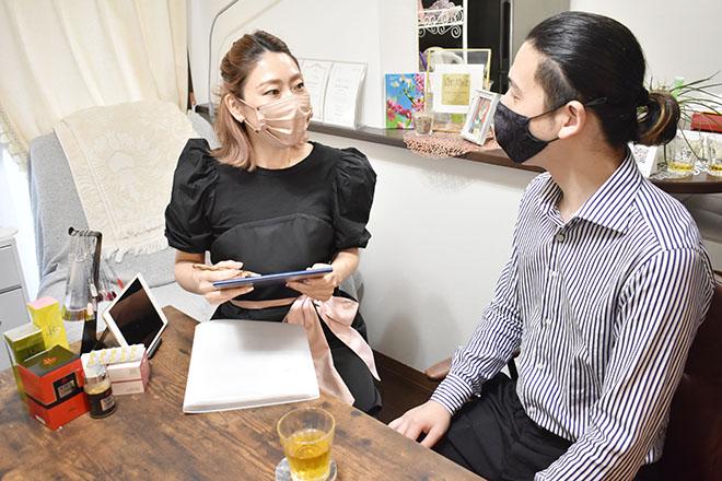男前製作所 ナゴヤ(NAGOYA) お客さまに合わせてお話しする時間を変えています